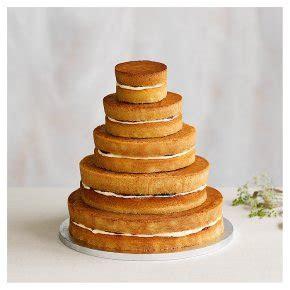 Naked 5 tier Wedding Cake, vanilla sponge (5 tiers