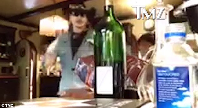 'You got this going!': Johnny Depp unleashed his fury after he realized he was being recorded by Amber Heard in a video obtained by TMZ (pictured)