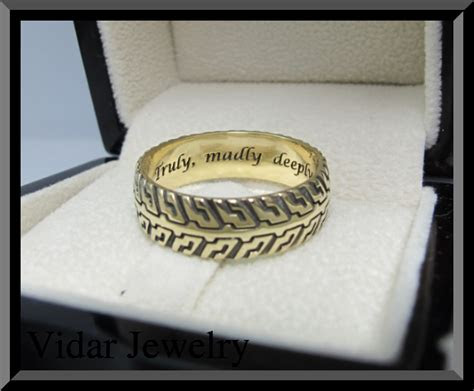 unique yellow gold tire tread wedding band custom rings
