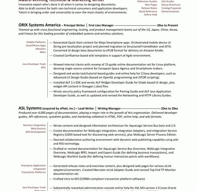 content writing resume sample  resume layout