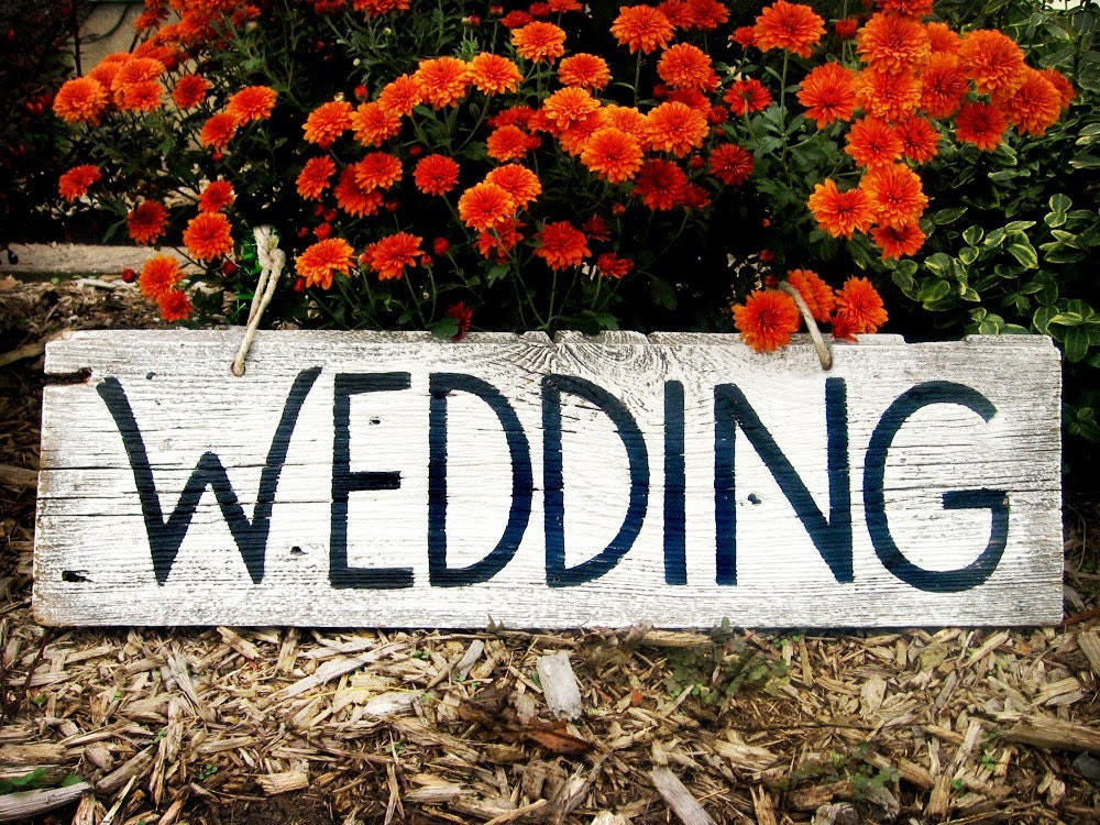 shandrus creations CUSTOMIZED Barn Wood Wedding Sign