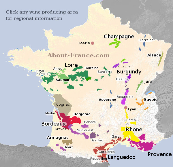 Pictures Of France Map. Wine map of France