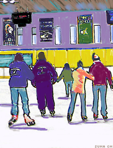 Skaters at Terry Conners Rink, Stamford, CT