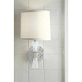 Kallista: Counterpoint by Barbara Barry Rock Crystal Wall Sconce ...