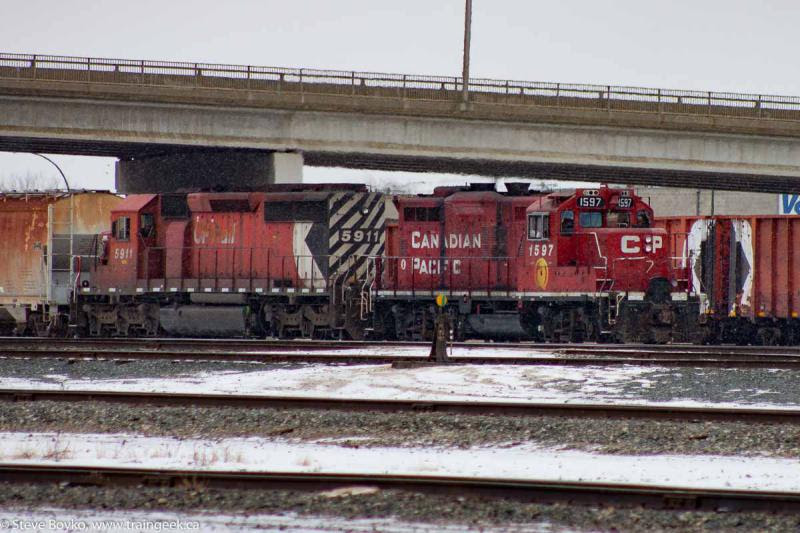 CP 1597 and 5911 multimark Winnipeg