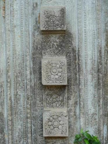 The ruins have carvings from Hindu and Buddhist mythology.