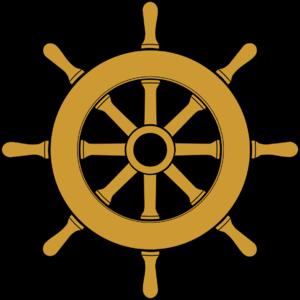Steering wheel in wood for older large sailing...
