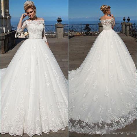 Discount 2017 Vintage Bateau Ball Gown Wedding Dresses