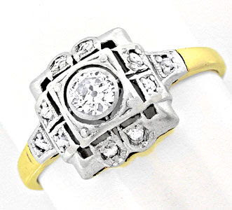 Original-Foto 1, ORIGINAL ANTIKER DIAMANTRING 14K/585 TOP-ERHALTUNG SHOP