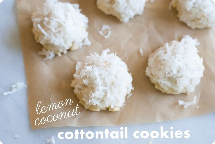lemon coconut cottontail cookies