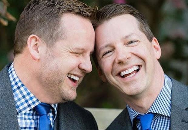 Scott Icen e ogleSean Hayes  (Foto: fACEBOOK/ reprodução)
