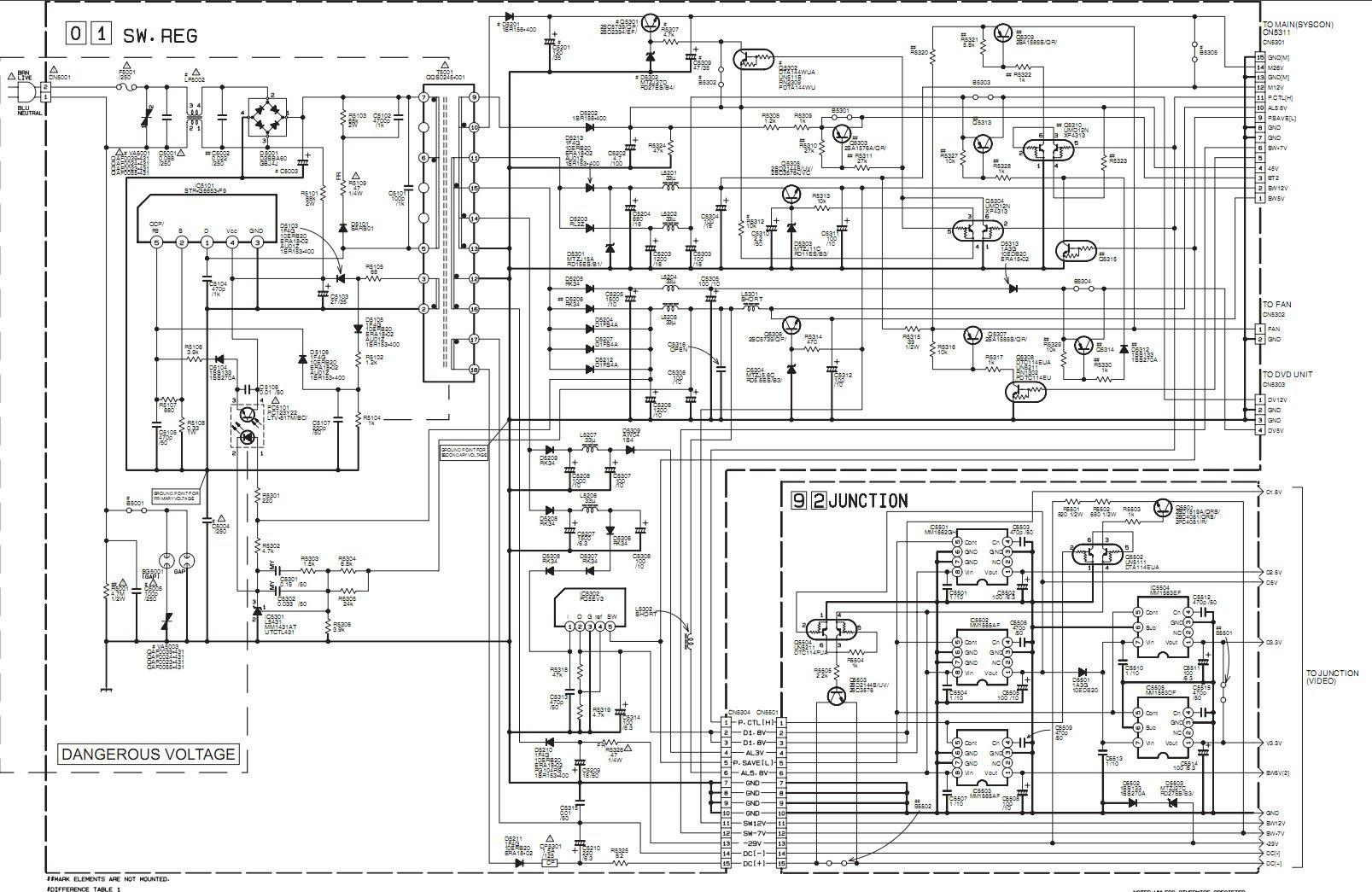 jvc crt tv circuit diagram