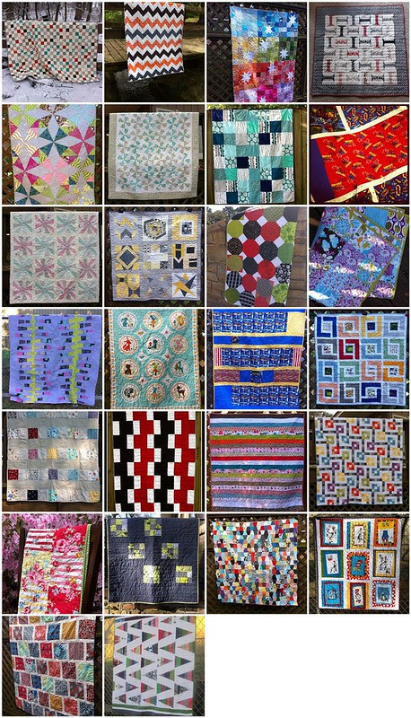 My 2012 quilt finishes.