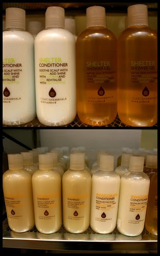 COMO Group haircare and bath products
