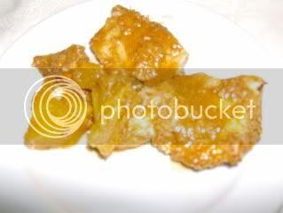 peito de peru com laranja e ananas