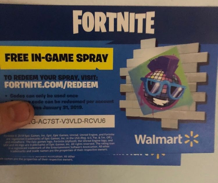 Fortnite Free Walmart Spray | Fortnite Account Generator Season 7
