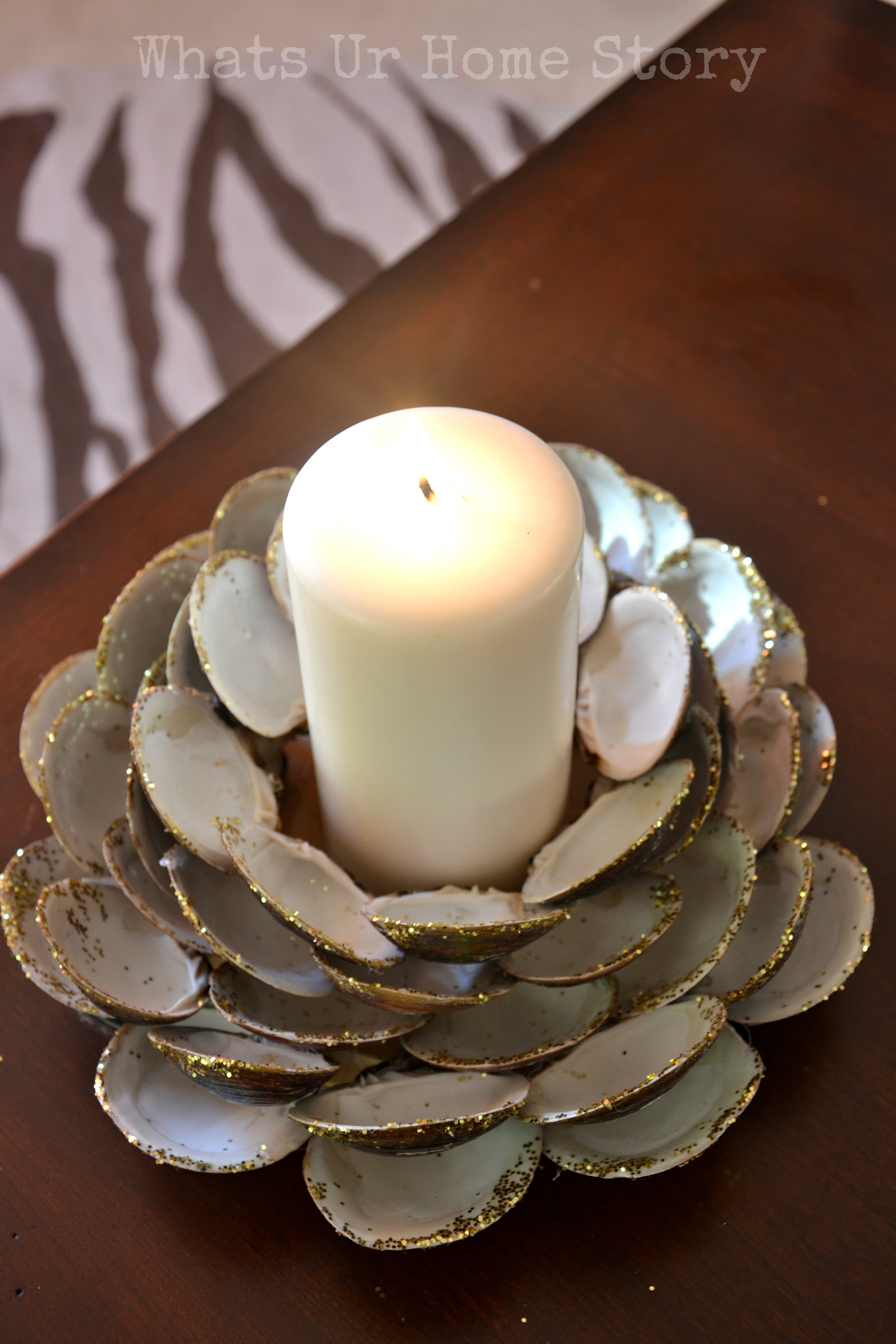 Seashell Candle Holder | Whats Ur Home Story