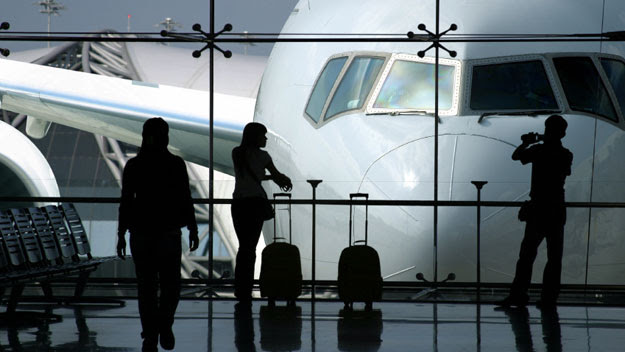Passengers waiting for flight
