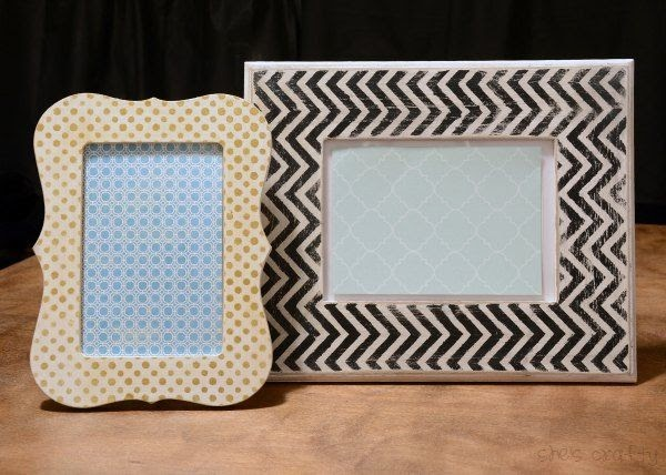 She S Crafty Diy Painted Picture Frames