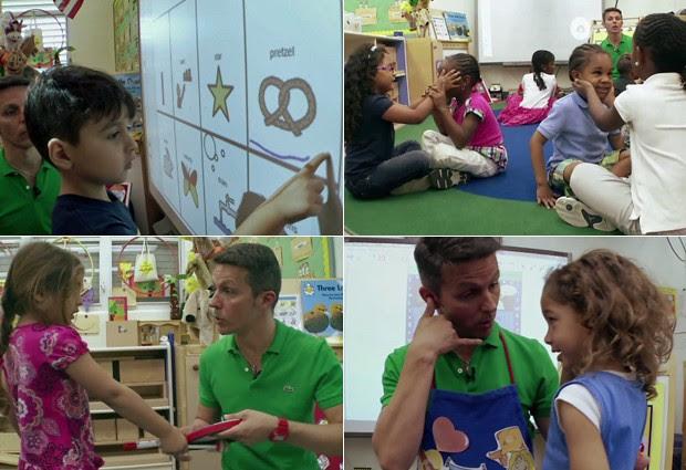 Lopes usa tecnologia, instrumentos e música para transmitir conhecimentos a crianças de três a cinco anos (Foto: Reprodução/Macys's)