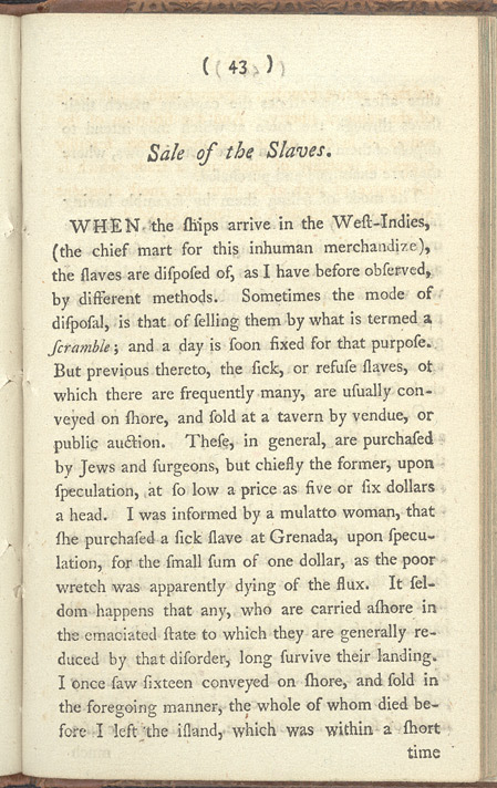 An Account Of The Slave Trade -Page 43