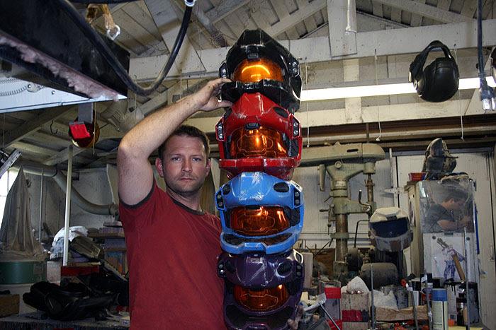 Helmet Totem Pole