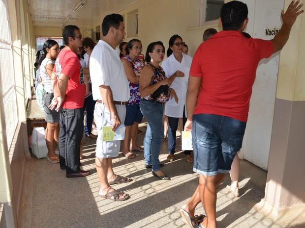 Vacina H1N1 Cacoal (Foto: Magda Oliveira/G1)