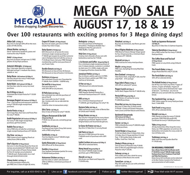 SMMG-MEGA FOOD SALE