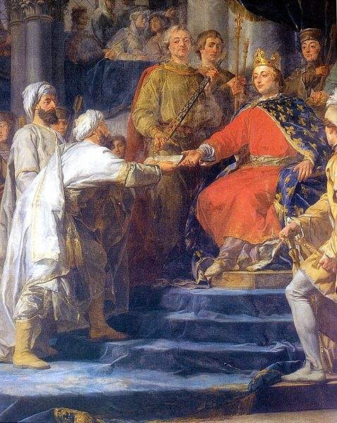 St. Louis, King of France, receiving the ambassadors of the Prince of Assassins.