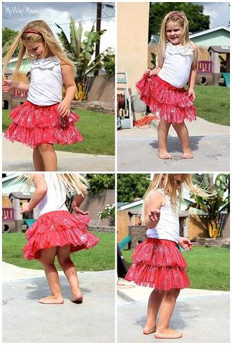 MWM Red 2 tier Halloween Skirt Oct 2012 10