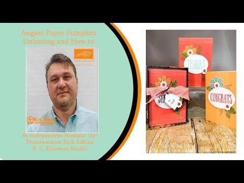 August 2017 Paper Pumpkin Giftable Greetings How to & Unboxing Video Tut...