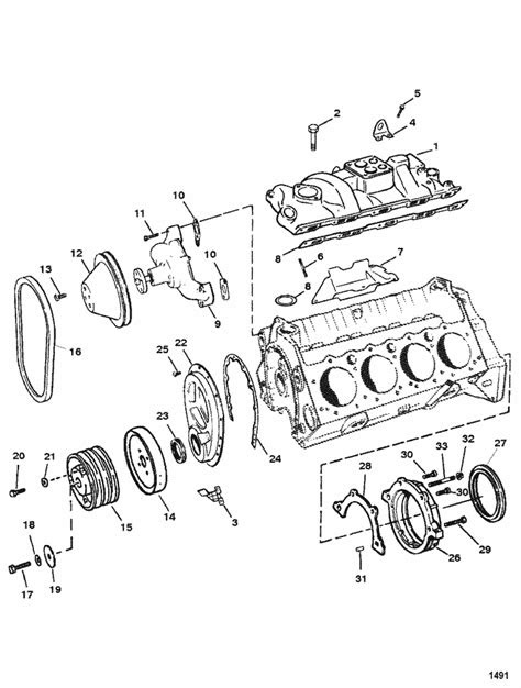 MerCruiser 5.7L MIE GM 350 V-8 1994-1995 Intake Manifold