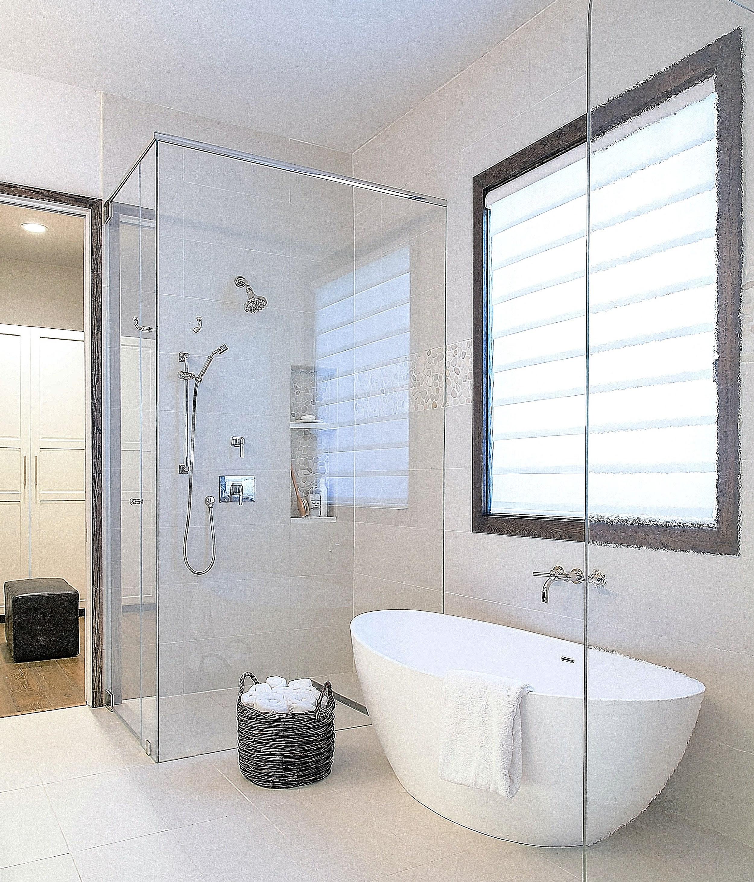 Source List w/ Links for White Contemporary Bathroom — DESIGNED