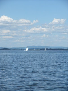on Lake Champlain ferry