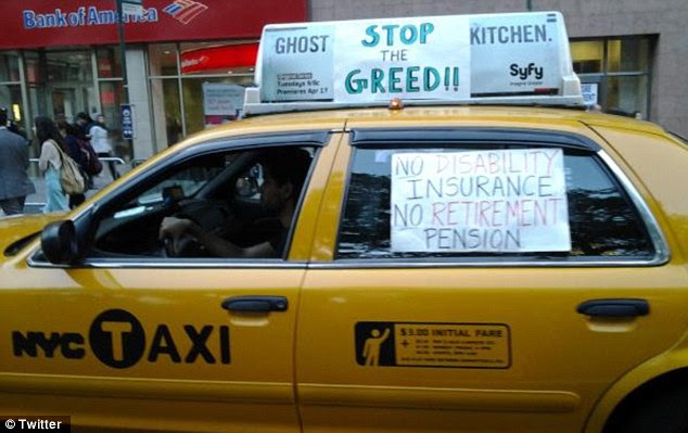 Driving the issue: A New York yellow cab driver lends his support to the OWS movement