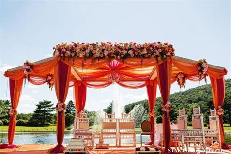 Fountain side Fusion Indian Wedding Ceremony by STAK
