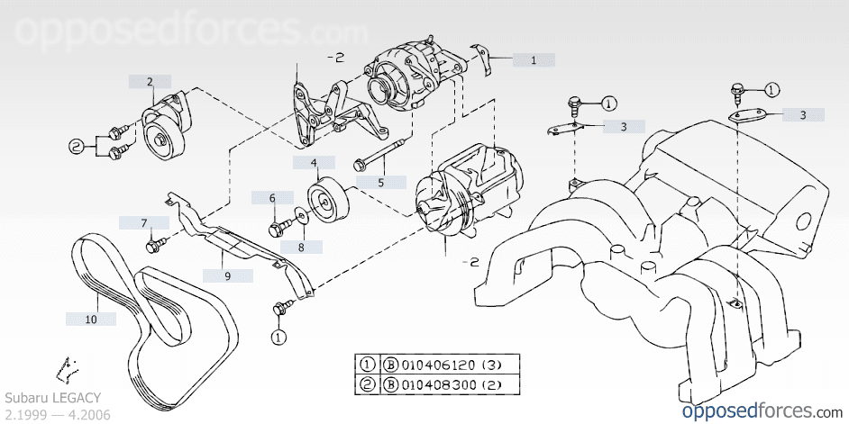 serpentine belt diagrams - 1990 to Present Legacy, Impreza ...