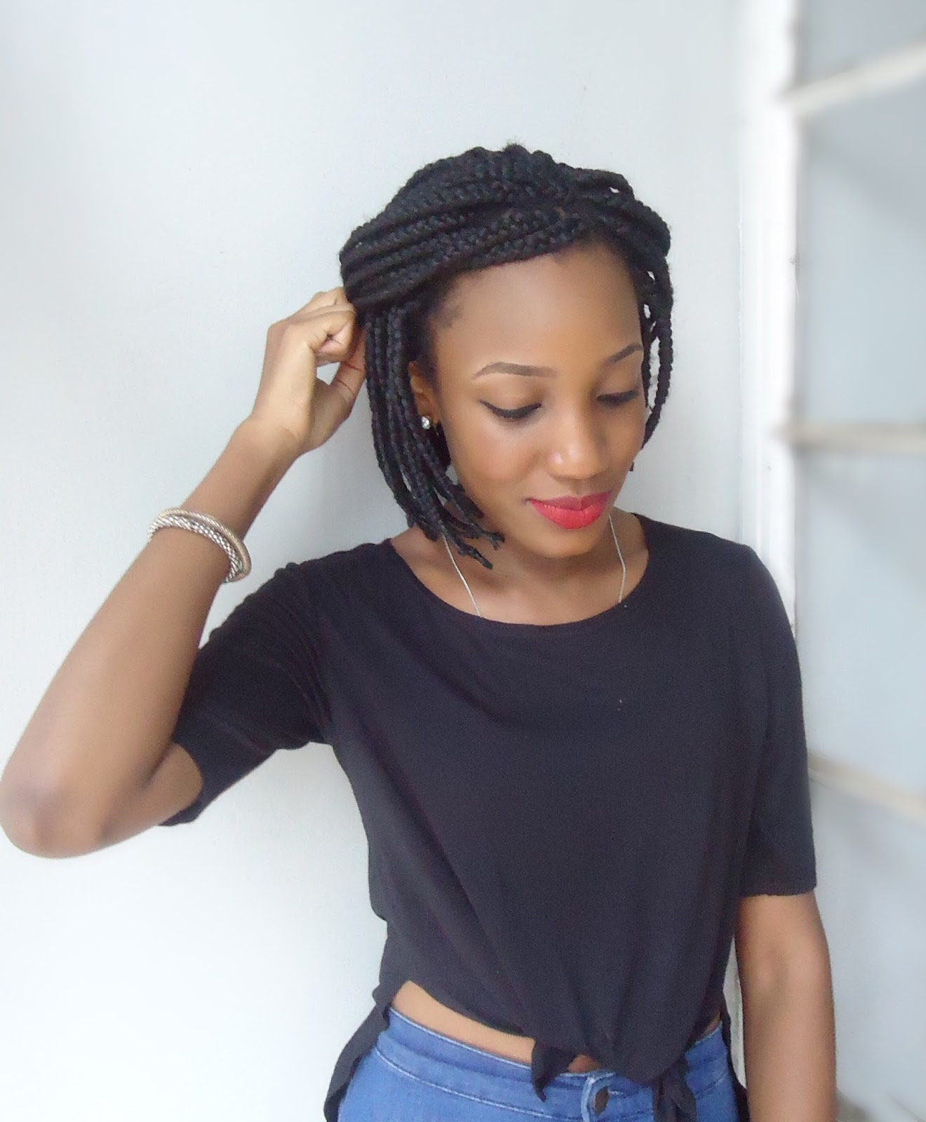 Box Braids In A Bob Hairstyle For Black Women