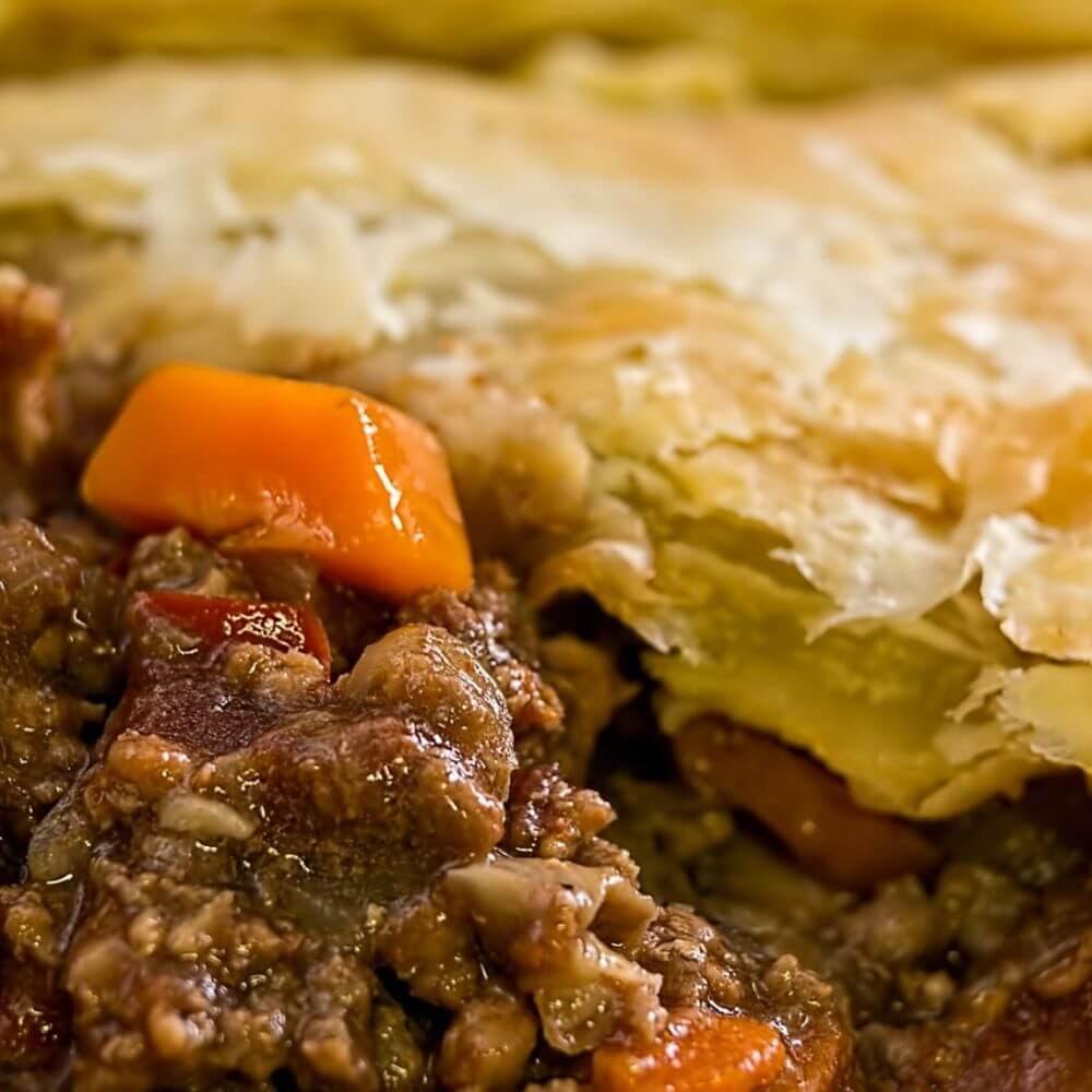 Beef Steak Pie With Potato Crust - Fluffy's Kitchen