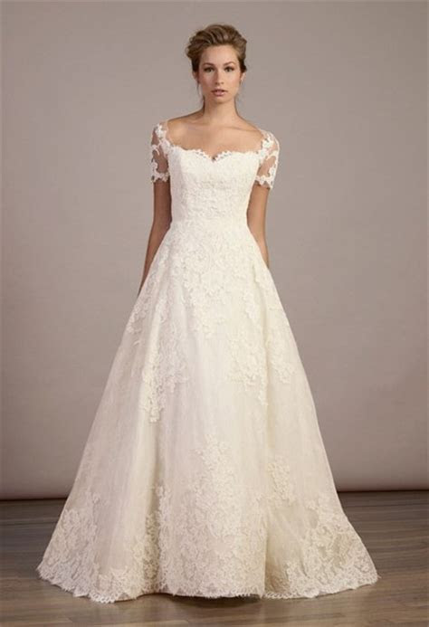 dress, isabelle armstrong, scalloped neckline, wedding