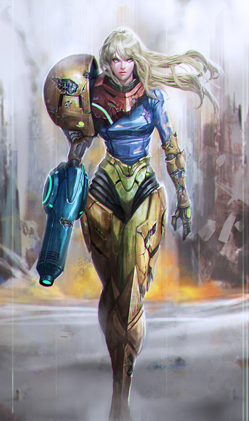 Samus: Battle Damaged by Leon Jo