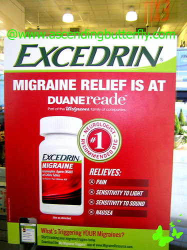 Excedrin Migraine in store Poster at Duane Reade Herald Square WATERMARKED