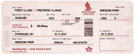 "Need a fake airline ticket for a modern era ""Call of"