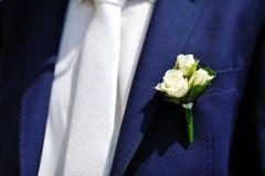 wedding flower groom