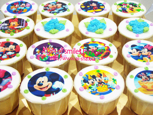 Cupcakes Edible Image Mickey Mouse