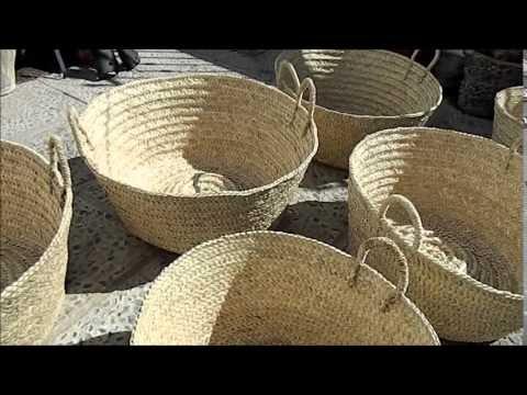 Artesan a y tradici n trabajando la palma morisca cesta - Cestos de palma ...