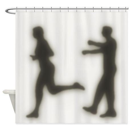 Zombie Apocalypse Biohazard Shower Curtain by ZombieGuns187