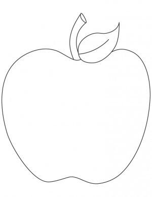 Manzana Para Pintar Colorear E Imprimir