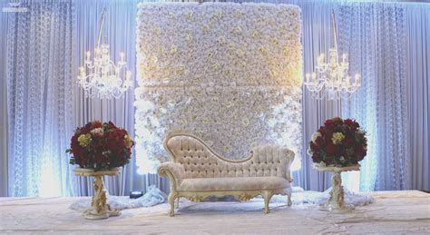 Wedding stage design with flower beautiful south asian