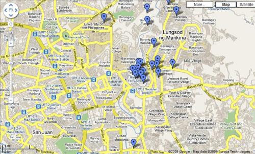 Email the map-maker at segregorio@gmail.com if you know Google Maps and want to help update this map.